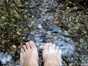 Rinse da feet...